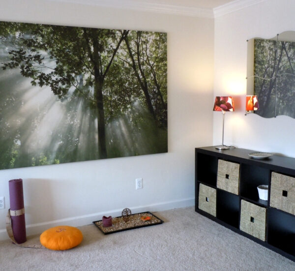 A client's new meditation space–a place to call home